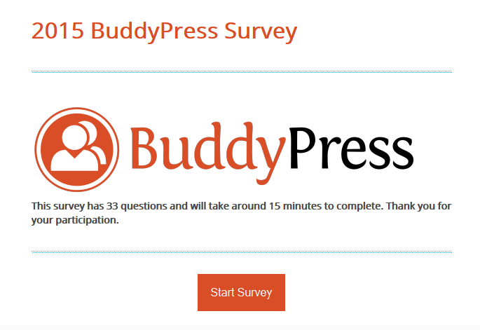 2015 BuddyPress Survey